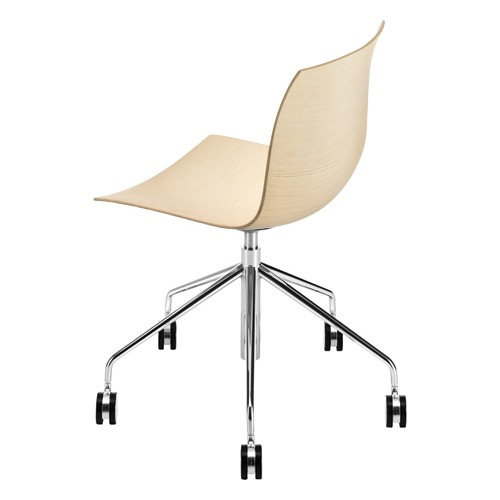 Arper Catifa 46 Task Chair with Wood Seat