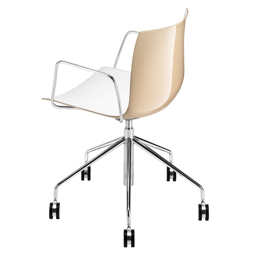 Arper Catifa 46 Task Arm Chair with Two-Tone Seat
