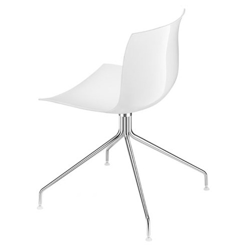 Arper Catifa 53 Chair On 4-Way Trestle Base with Single-Tone Seat and Glides