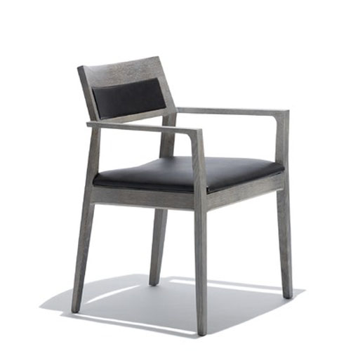 Knoll Marc Krusin Side Chair with Arms and Upholstered Back