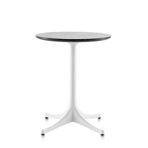 Nelson Pedestal Table Outdoor 17 Dia